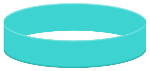 Wristband Color Example - Aqua