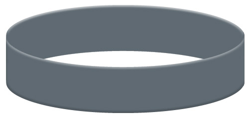 Wristband Color Example - Dark Gray